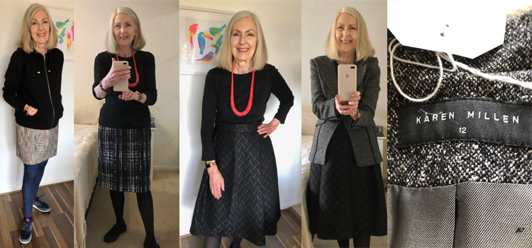 The cooler weather means I get out my warmer clothes – hooray!   Part 1 – skirts