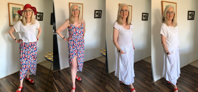 Two dresses for the beach and a top that came free with a coffee pot!